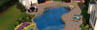 Get a 3D drawing of your backyard paradise