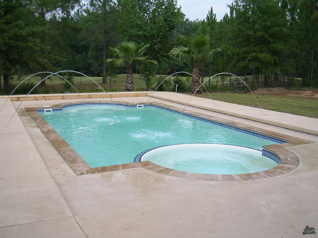 Indy Premier Pools Featuring San Juan Fiberglass Pools