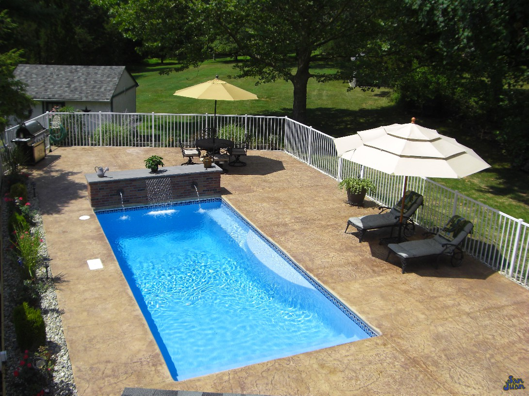 leisure times pools featuring san juan fiberglass pools